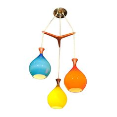 Mid Century Modern Chandelier   From a unique collection of antique and modern chandeliers and pendants  at https://www.1stdibs.com/furniture/lighting/chandeliers-pendant-lights/