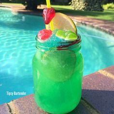 Frozen Swamp Water! For the recipe, visit us here: www.TipsyBartender.com