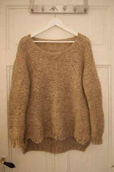 Drops Alpaca, Alpacas, Diy And Crafts, Knitting Patterns, Beige, Pullover, Crochet, Sweaters, Handmade