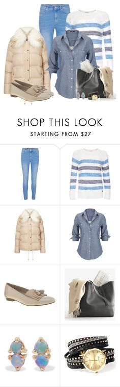 """""""Cosy Jeans Outfit"""" by mozeemo ❤ liked on Polyvore featuring Barbour, Miss Selfridge, Silver Jeans Co., WWAKE and Collections by Hayley"""