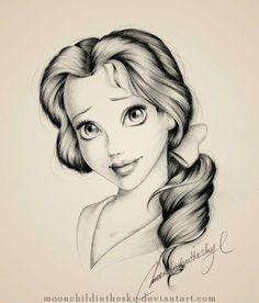 Pencil drawing, Belle by melanie