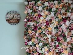HOW TO MAKE A FLOWER WALL IN 2 MINUTES! - Where to buy flowers! - YouTube