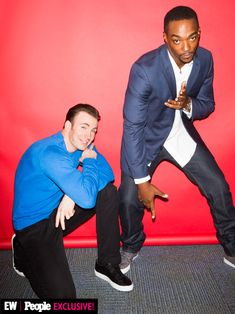 Chris Evans and Anthony Mackie at Disney's D23 Expo