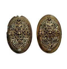 Oval brooches. Bronze, white-metal. Viking. | The Swedish History Museum, Stockholm