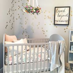 Peeking in on this beautifully styled crib and we spy one of our favorite crib sheets - check it out over in the #PNShop!