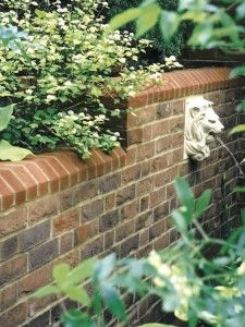 Exceptional Make Your Garden Better With Wall Waterfall: Cool Design Brick Wall  Waterfall ~ Decoration Inspiration