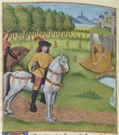 168v - Diane et Evrard -- BNF, Manuscrits, français 143