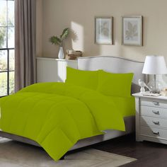 6 Pc 14''Pkt 1500 Tc Quilted Olympic Queen Olive Egyptian Cotton Duvet Cover Set