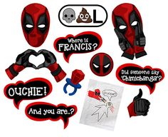 Deadpool Super hero inspired digital photo booth props Instant download by DigitalPhotoBooth on Etsy https://www.etsy.com/listing/285916925/deadpool-super-hero-inspired-digital