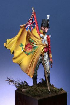 ST120/21 Ensign 28th Foot Waterloo 1815, by Maurice Corry
