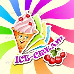 Realistic Graphic DOWNLOAD (.ai, .psd) :: http://hardcast.de/pinterest-itmid-1005424516i.html ... Cherry Ice Cream ...  cartoon, cherry, cone, cream, creamy, creme, cup, dessert, eye, food, frosting, ice, ice-cream, milky, mouth, pastry, product, refreshment, soft, sweet, text, twirl, up, yogurt  ... Realistic Photo Graphic Print Obejct Business Web Elements Illustration Design Templates ... DOWNLOAD :: http://hardcast.de/pinterest-itmid-1005424516i.html