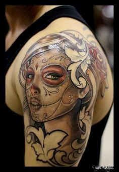 Do you know Mexican tattoo designs? Here are the top 9 Mexican tattoo designs that you should definitely try out. Tattoo Bunt, Tattoo Platzierung, Tattoo Trend, Tattoo Motive, Tattoo Fotos, Great Tattoos, Body Art Tattoos, Girl Tattoos, Tattoos For Guys