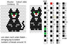 Schlauchketten häkeln - Musterbibliothek: katze