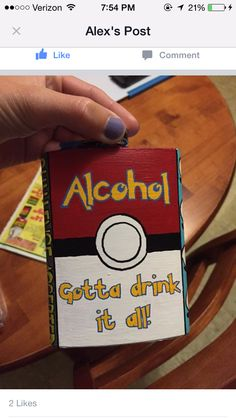Pokemon alcohol flask painted