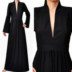 Simple black abaya