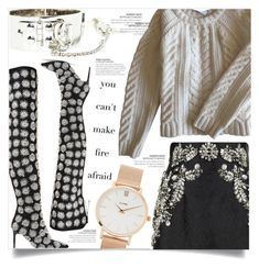 """""""Party People"""" by dolly-valkyrie ❤ liked on Polyvore featuring Anine Bing, Oscar de la Renta, Dolce&Gabbana and CLUSE"""