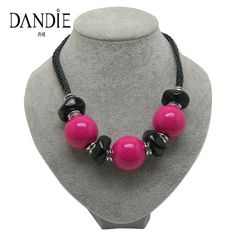Dandie Big Acrylic Bead Necklace, Leather Necklace, Choker Women Jewelry. Yesterday's price: US $5.40 (4.63 EUR). Today's price: US $2.81 (2.40 EUR). Discount: 48%.