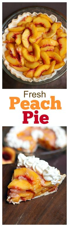 Easy Fresh Peach Pie