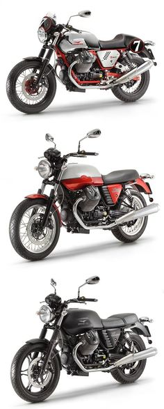 Moto Guzzi reveals the all-new V7 range: the Racer, Special and Stone. From $8,390. What's your favorite? www.motoguzzi-us.com