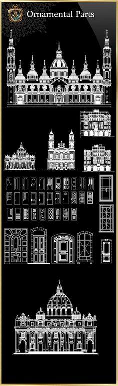 ★【Interior design blocks Bundle】-Cad Drawings Download|CAD Blocks|Urban City Design|Architecture Projects|Architecture Details│Landscape Design|See more about AutoCAD, Cad Drawing and Architecture Details