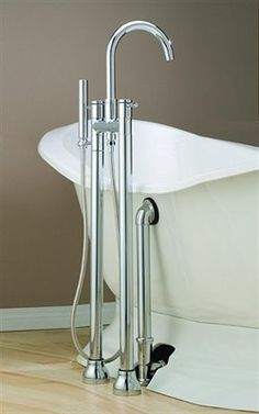$900 Cheviot 7565 Contemporary Free Standing Clawfoot Tub and Shower Filler  Cheviot Contemporary Free Standing Clawfoot Tub and Shower FillerTub filler with