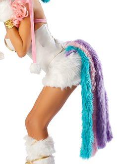 Sexy Gogo Unicorn Corset & Skirt Fur Outfit