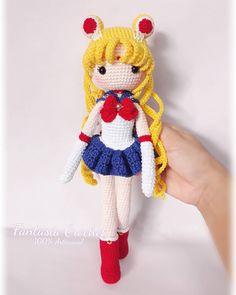 🌙🌙🌙❤Sailor Moon ❤🌙🌙🌙 . . . . . 🌙🌙🌙🌙🌙🌙🌙🌙🌙🌙🌙🌙🌙 #SueñosÉlficos #FantasíaCrochet #handmade #WeavingLove #100Artesanal #amigurumis #crochet… Sailor Moon Luna, Sailor Moon Crochet, Sailor Moon Crystal, Luna Moon, Crochet Doll Pattern, Crochet Patterns Amigurumi, Amigurumi Doll, Crochet Dolls, Amigurumi For Beginners