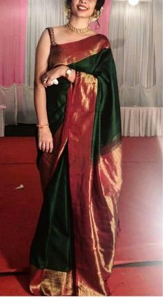 Designer Sarees Wedding, Wedding Saree Blouse Designs, Pattu Saree Blouse Designs, Half Saree Designs, Indian Fashion Dresses, Indian Outfits, Trendy Sarees, Stylish Sarees, Wedding Saree Collection