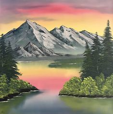 Excited to share this item from my shop Gray Mountain Bob Ross Style Oil Painting Original Painting Landscape Gallery Wrapped Canvas Easy Landscape Paintings, Scenery Paintings, Mountain Paintings, Abstract Landscape, Landscapes To Paint, Easy Nature Paintings, Canvas Painting Landscape, Deep Paintings, Peintures Bob Ross