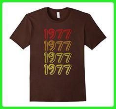 Mens Funny 1977 40th Years Old Birthday Gift Shirt Blink Retro Small Brown - Retro shirts (*Amazon Partner-Link)