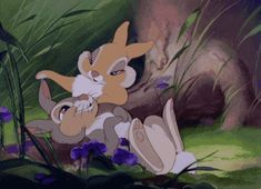 Thumper. In love. It's spring. Bambi. '42. this is the reason why i named our bunny thumper. look how sweet