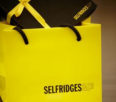Selfridges online delivery packaging. Inside of the box has just ...