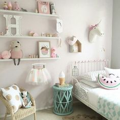 Super cute and girly room! #Love More