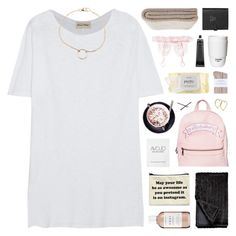 """""""stay up all night, losing sleep over you"""" by hhuricane ❤ liked on Polyvore featuring Victoria's Secret, American Vintage, Smythson, ROOM COPENHAGEN, philosophy, Johnstons, Sugarbaby, Goody, Chanel and Dogeared"""