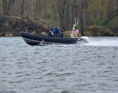 NJ State Police Patrol Boat; scene from the Delaware River in Beverly, NJ.