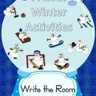 French Write the Room Winter Activities.  This is an activity that helps students practice their vocabulary skills.  The winter activities included...