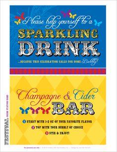 REAL PARTIES: Festival Du Bebe {Part 2 – Sparkling Drinks Station}