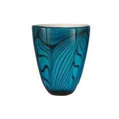 Blue And Black Blue Wave Vase