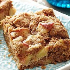 Apple Streusel Bars-is a delicious and quick (20) minutes to prepare and (20) minutes to bake recipe for cookie bars made with fresh chopped apples and a brown sugar and cinnamon topping. This makes for a great anytime of the year dessert or treat. It is also a healthy, low calories, low fat, low cholesterol, low sodium, low carbohydrates, heart-healthy and Weight Watchers (3) PointsPlus recipe. Makes 15 servings.