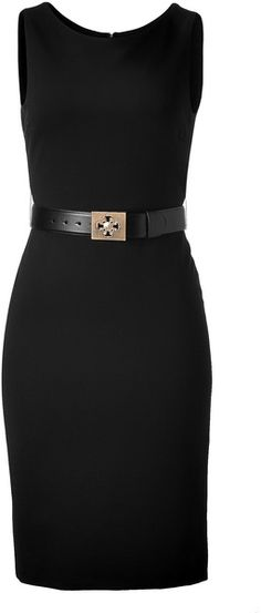 Versace Black Sheath Dress