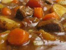 Norwegian stew (Lapskaus). My mom made this about once a week; leftover roast.  I used to think she made up the word lapskaus!