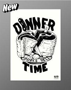 Mcbess - Dinner Time - Giclée Print