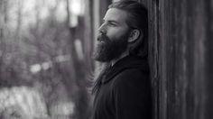 snow, winter, long hair, man,  Michael Sudahl Beard Model