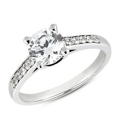 Diamond Accent Engagement Ring Mounting from Goldsmith Jewelers.