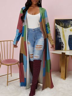 Chic Outfits, Fashion Outfits, Womens Fashion, Fashion Blouses, Dressy Outfits, Casual Wear, High Fashion, Maxi Cardigan, Outerwear Women