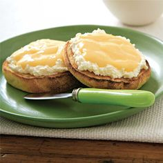 Grapefruit Butter on Toasted Muffins