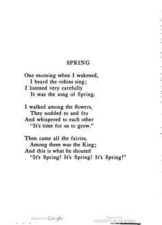 Songs Verses Rhymes Images Spring