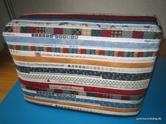 Selvage Blog: Jana's Selvage Sewing Machine Cover Chenille Quilt, Bargello Quilts, Patch Quilt, Applique Quilts, Quilting Projects, Sewing Projects, Sewing Ideas, Charm Quilt, Andover Fabrics