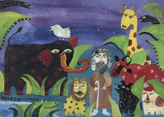 Saint Francis of Assisi with the Animals Painting at ArtistRising.com