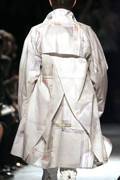 Overcoat / trench | White Patchwork